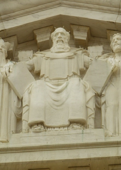 Moses and the Ten Commandments in Supreme Court